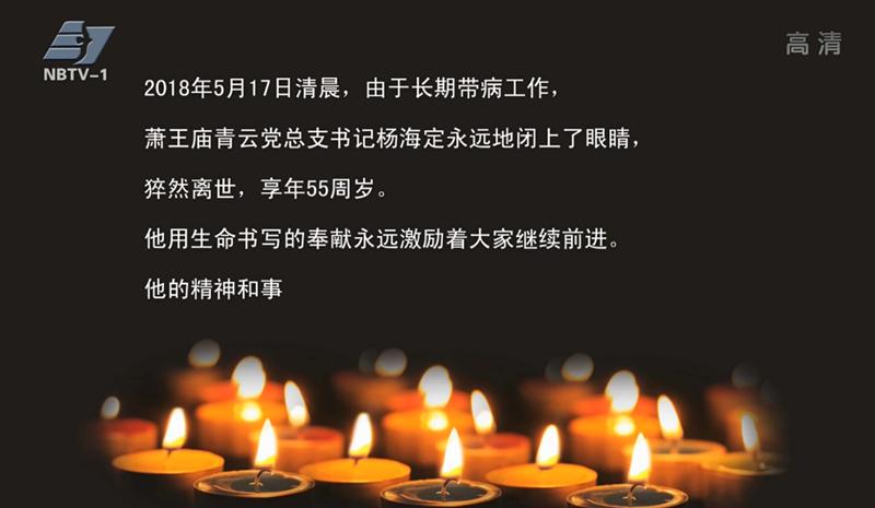 海定化为青云魂——奉化青云村党总支书记杨海定