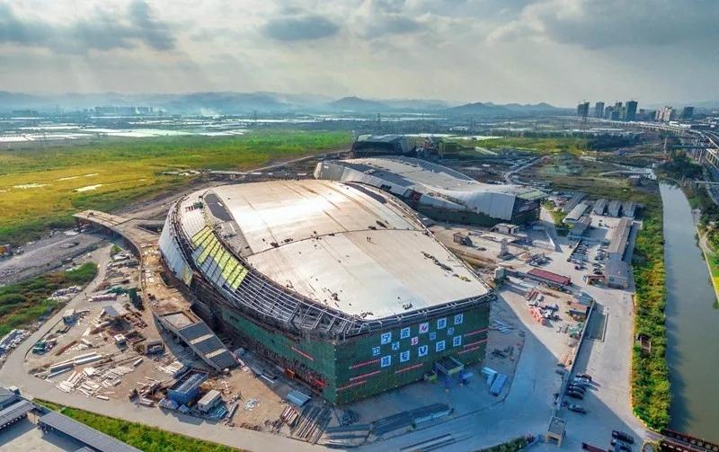 宁波奥体中心建设资料图图片