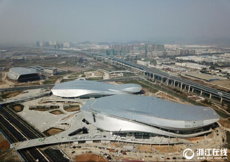 宁波奥体中心项目进入收尾阶段图片