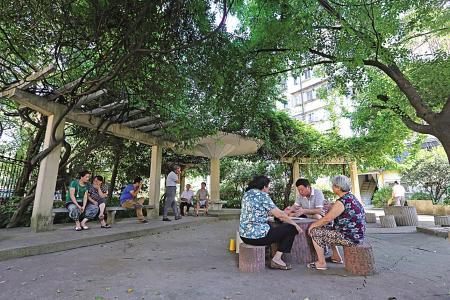 """丹凤社区绿化覆盖率达到41% 让绿化真正""""走进""""居民的生活"""