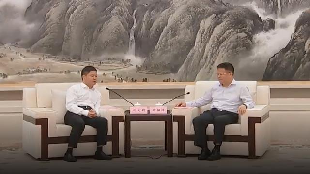 黔西南州党政代表团来甬考察 郑栅洁裘东耀与刘文新座谈