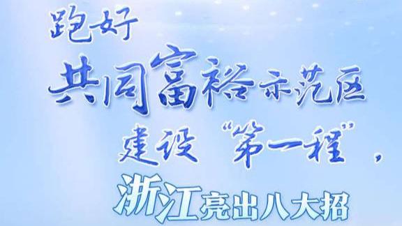 """读图丨 跑好共同富裕示范区建设""""第一程"""",浙江亮出八大招"""