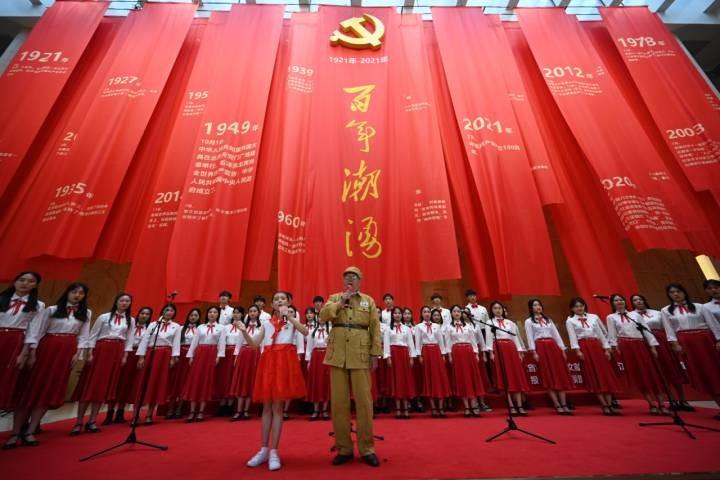 百年潮涌——浙江省庆祝中国共产党成立100周年大型展览开幕