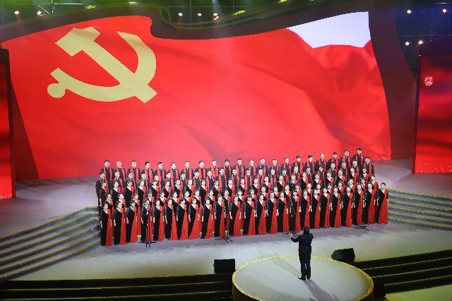 千人唱响红歌!宁波市庆祝中国共产党成立100周年群众合唱展演举行