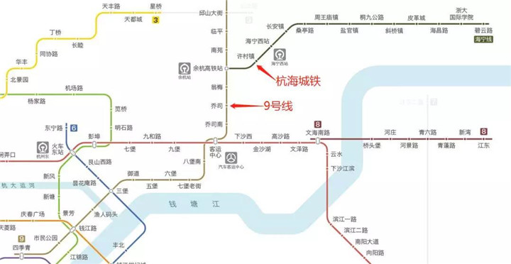 杭海城际铁路线路全长约46.