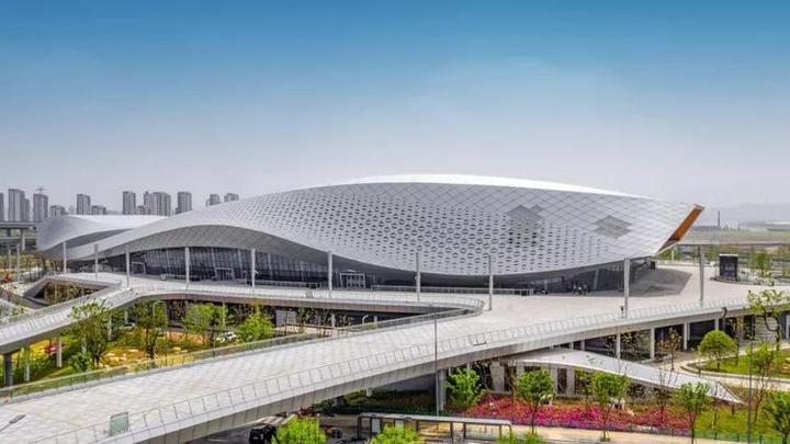 宁波奥体中心全民健身中心亮相江北 城市新地标火了图片